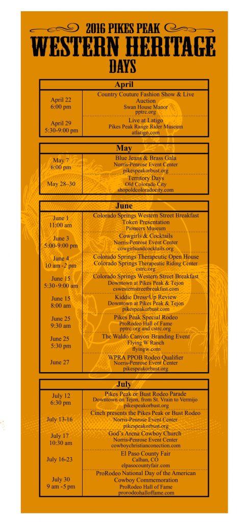 Rodeo Calendar - Front