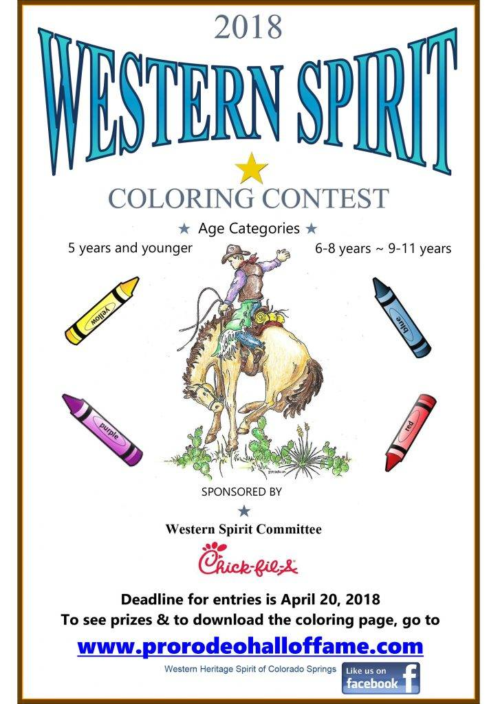 Western Spirit Coloring Contest - Pro Rodeo Hall of Fame